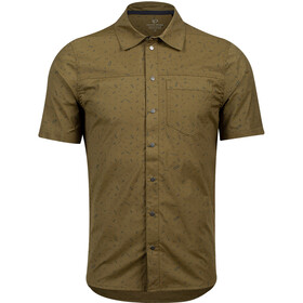 PEARL iZUMi Rove Chemise manches courtes Homme, dark olive forks